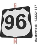 us 96 route sign | Shutterstock .eps vector #422324557
