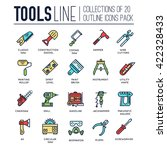 collection of working tools... | Shutterstock .eps vector #422328433