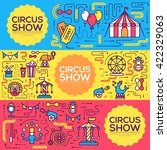 premium quality circus outline... | Shutterstock .eps vector #422329063