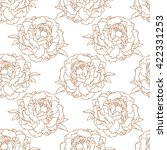peony vintage seamless pattern... | Shutterstock .eps vector #422331253