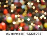 abstract christmas light blurry ... | Shutterstock . vector #42235078