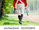 legs of jockey before walking... | Shutterstock . vector #422353843