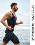 running man. sporty runner... | Shutterstock . vector #422366197