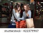 beautiful girls girlfriends... | Shutterstock . vector #422379907