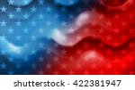 bright wavy independence day... | Shutterstock . vector #422381947