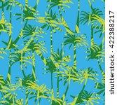 palm tree silhouette pattern  ... | Shutterstock .eps vector #422388217