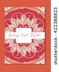 mandala vintage template card... | Shutterstock .eps vector #422388823