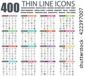 set of thin line icons for... | Shutterstock .eps vector #422397007