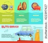 auto service infographic set... | Shutterstock .eps vector #422397427