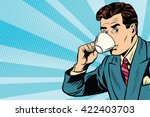 businessman and cup of coffee | Shutterstock .eps vector #422403703