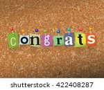 "the word ""congrats"" written in... | Shutterstock .eps vector #422408287"