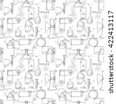 uncolored seamless raster... | Shutterstock . vector #422413117