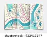 vector flat paper city map... | Shutterstock .eps vector #422413147