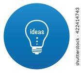 idea icon design on blue...