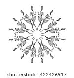 seamless flower pattern. can be ... | Shutterstock .eps vector #422426917
