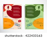 ice cream symbol on abstract... | Shutterstock .eps vector #422433163