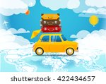 take vacation. car travelling... | Shutterstock .eps vector #422434657