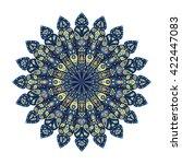 round mandala. blue floral... | Shutterstock .eps vector #422447083