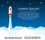 rocket going into deep space....   Shutterstock .eps vector #422450893