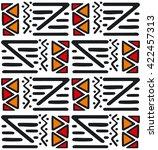 seamless ethnic pattern | Shutterstock .eps vector #422457313
