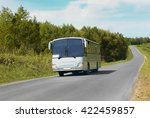 white bus goes on the country