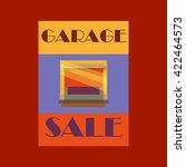 garage or yard sale with signs  ... | Shutterstock .eps vector #422464573