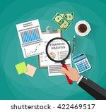 cartoon businessman hand with... | Shutterstock . vector #422469517