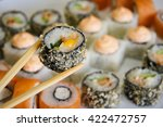 japanese sushi seafood tasty | Shutterstock . vector #422472757