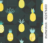 pineapple colorful seamless... | Shutterstock .eps vector #422476603