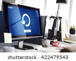 update upgrade installation... | Shutterstock . vector #422479543