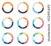 circular arrows for... | Shutterstock .eps vector #422491693