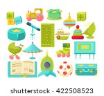 kids room interior elements set ... | Shutterstock .eps vector #422508523