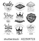 sewing shop vintage stamp... | Shutterstock .eps vector #422509723