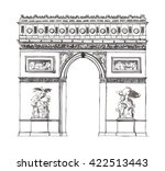 watercolor hand drawn... | Shutterstock . vector #422513443