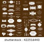 set of calligraphic elements... | Shutterstock .eps vector #422516443