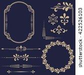 vintage set. floral elements... | Shutterstock .eps vector #422526103