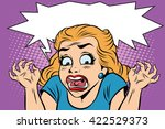 emoji retro devil horror girl...   Shutterstock .eps vector #422529373
