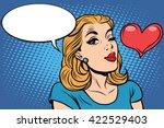 emoji retro heart love romance...   Shutterstock .eps vector #422529403
