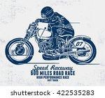 custom motorcycle illustration. ... | Shutterstock .eps vector #422535283