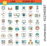 vector network technology flat... | Shutterstock .eps vector #422540587