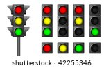 the isolated traffic lights for ...   Shutterstock .eps vector #42255346