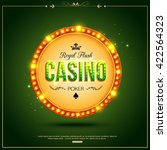 casino luxury background with... | Shutterstock .eps vector #422564323