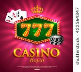 casino background. vector... | Shutterstock .eps vector #422564347