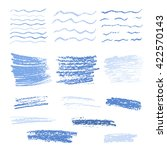 set of crayon drawn textures.... | Shutterstock .eps vector #422570143