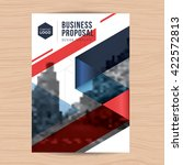 modern clean cover for business ... | Shutterstock .eps vector #422572813