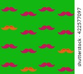 colorful pattern  mustache art... | Shutterstock .eps vector #422577097