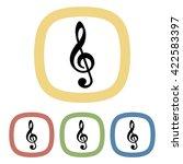 treble clef colorful icon | Shutterstock .eps vector #422583397