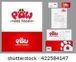 stationery design set in vector ... | Shutterstock .eps vector #422584147