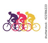 sport cyclist silhouette vector ... | Shutterstock .eps vector #422586223