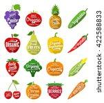 vector fruit and vegetables logo | Shutterstock .eps vector #422588833